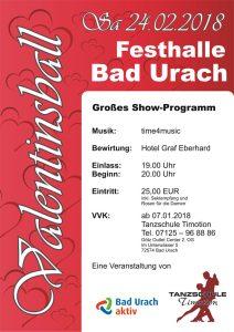 Valentinsball 2018 bei der Tanzschule Timotion in Bad Urach mit time4music