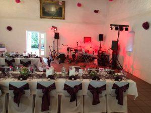 Hochzeitsband time4music: Das Bild zeigt den Platzbedarf beim Auftritt